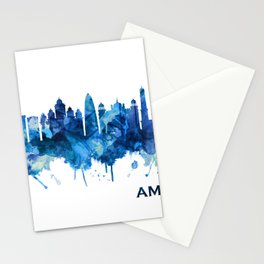 Amritsar Punjab Skyline Blue Stationery Cards