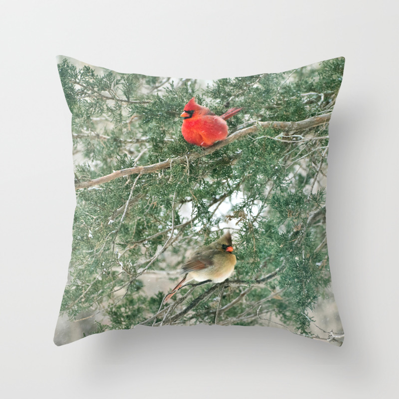 Northerncardinal Throw Pillows   Society18