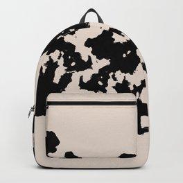 Black Rorschach inkblot Backpack
