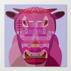 A Cow in Los Angeles Canvas Print