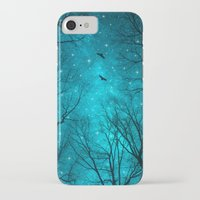 teal iPhone & iPod Cases featuring Stars Can't Shine Without Darkness  by soaring anchor designs