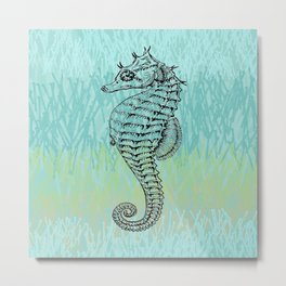 Seahorse ~ The Summer Series Metal Print