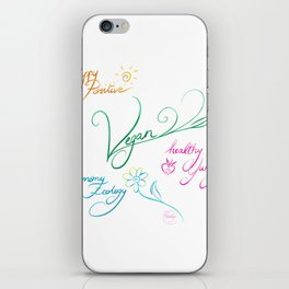Vegan & happy lifestyle iPhone Skin