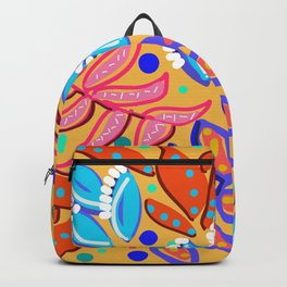 Whimsical Leaves Pattern Backpack