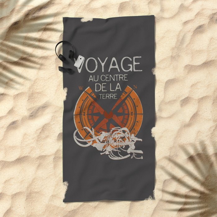 Books Collection: Jules Verne Beach Towel