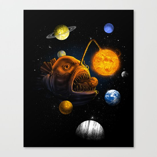 Cosmic Angler  Canvas Print