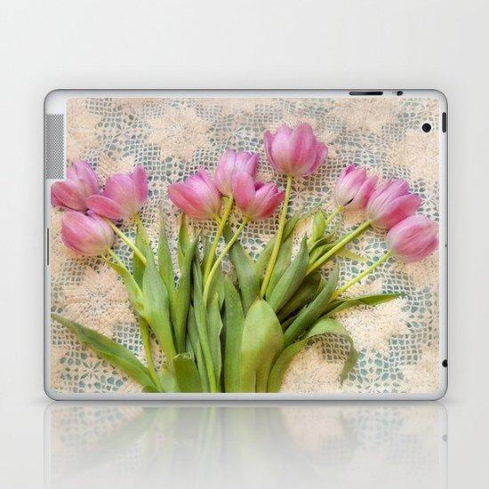 Vintage Tulips Laptop & iPad Skin