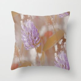 Flower Poetry In Nature #decor #society6 Throw Pillow