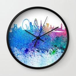 London Skyline Silhouette Impressionistic Blast Wall Clock