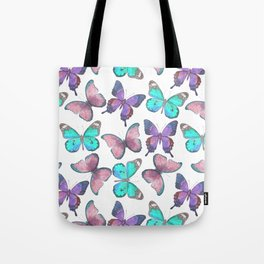 Flutter Butterfly Pattern Tote Bag