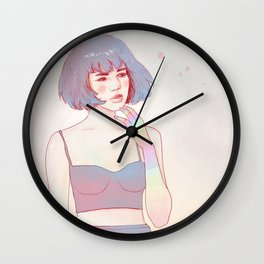 Day dreaming girl Wall Clock