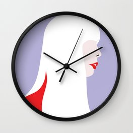 Joni Mitchell (red) Wall Clock