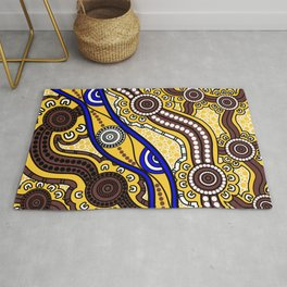 Authentic Aboriginal Art - Welcome to Country Rug