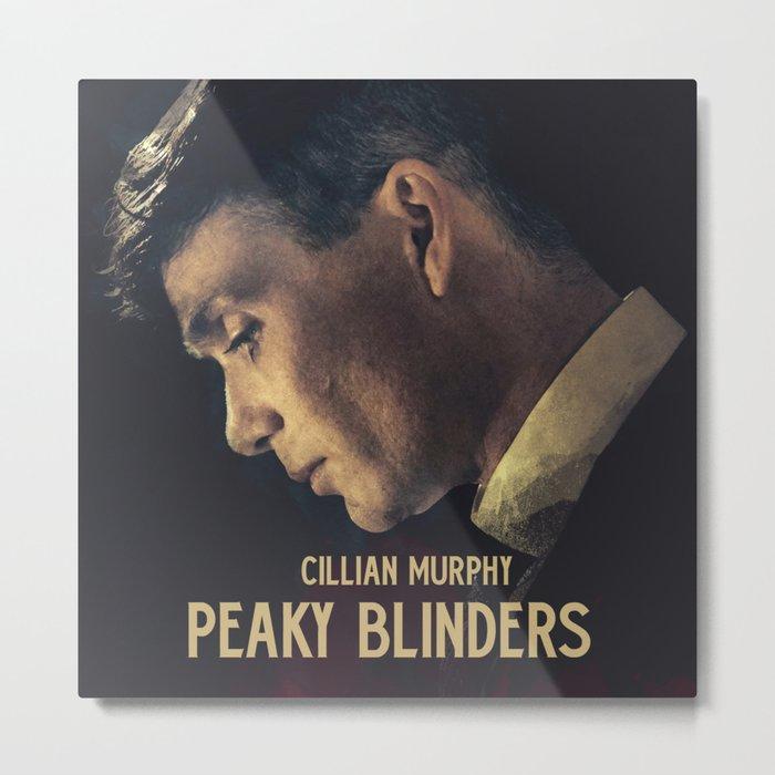 Peaky Blinders, Cillian Murphy, Thomas Shelby, BBC Tv series, gangster family Metal Print