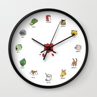 hotline miami Wall Clocks featuring Hotline Miami by Jarvis Glasses