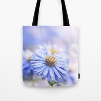 biology Tote Bags featuring Blue Aster in LOVE  by UtArt