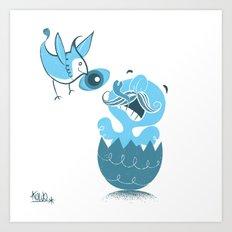 Blue Jay Conscience Art Print