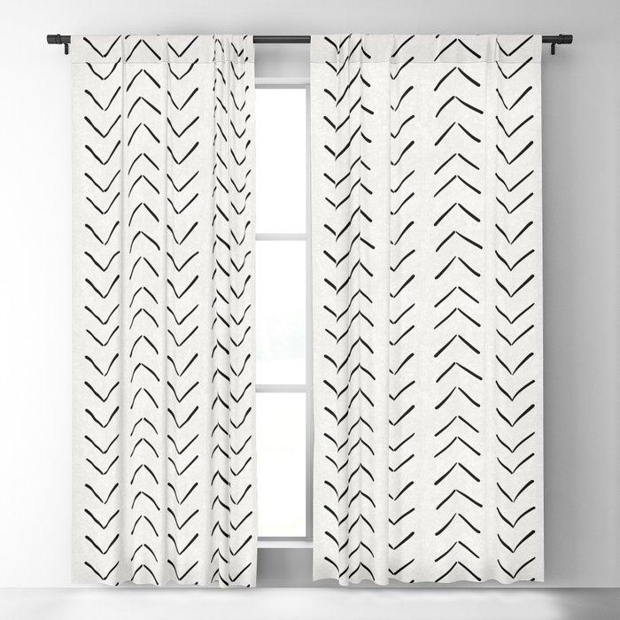 Mud Cloth Big Arrows in Cream Blackout Curtain