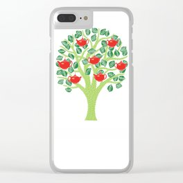 The Tea Tree (Green) Clear iPhone Case