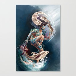 Sedna: Inuit Goddess of the Sea Canvas Print
