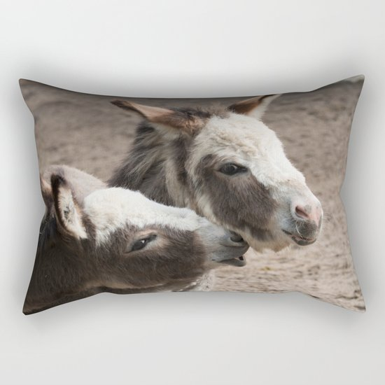The donkeys Rectangular Pillow