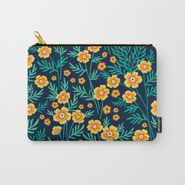 """Cute Floral pattern in the small yellow flower. """"Ditsy print"""". Carry-All Pouch"""