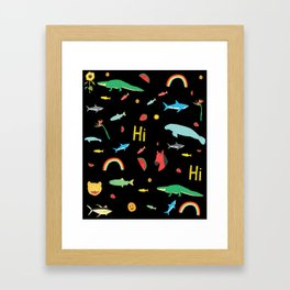 All Together Black Framed Art Print
