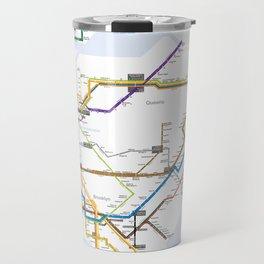 New York Subway Map Travel Mug