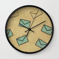 letter Wall Clocks featuring Letter by sinonelineman