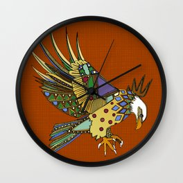 jewel eagle rust Wall Clock