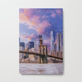 New York City // Retro 12 Metal Print