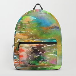 Watercolor Wash Backpack
