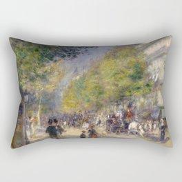 Pierre-Auguste Renoir - The Grands Boulevards Rectangular Pillow