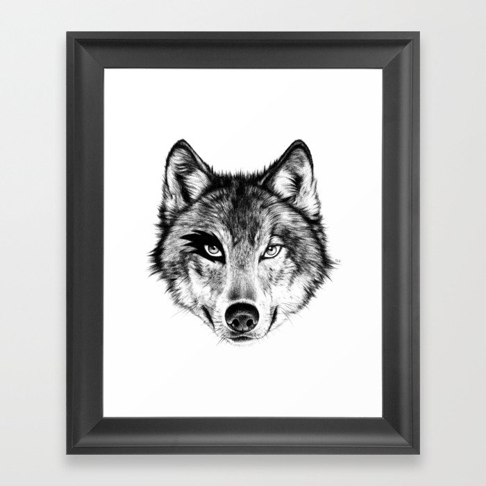 The Wolf Next Door Framed Art Print