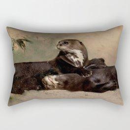 Quiet, please! He is sleeping Rectangular Pillow