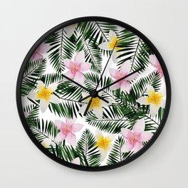 Leave Me Aloha in White Wall Clock