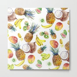 Tropical Fruits, Pina Colada, Fruit Punch tropical design Metal Print