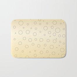 Design dots, gold ethno Bath Mat