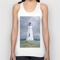 lighthouse Tank Tops featuring Lighthouse by EtOfficina