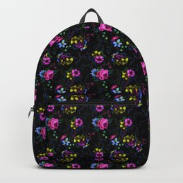 Flowers Glow In The Dark Backpack