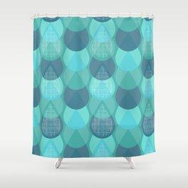 Agua in Blue Shower Curtain