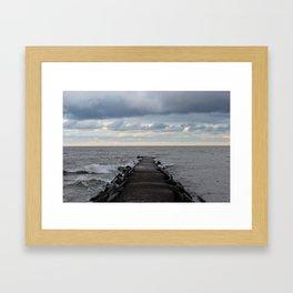 rock pier Framed Art Print