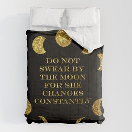 Moon Phases Gold Comforters
