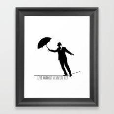 no safety net Framed Art Print