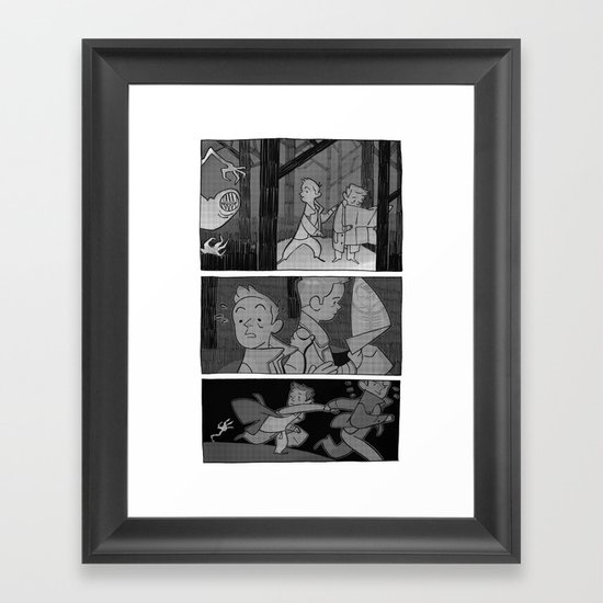 Meanwhile Framed Art Print