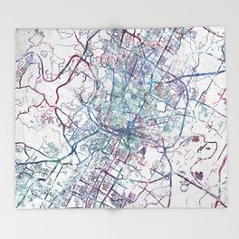 Austin map Throw Blanket