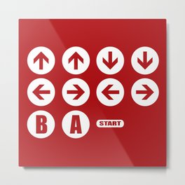 Game Cheat Code Metal Print