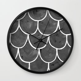 Grey chalk roof tiles Wall Clock