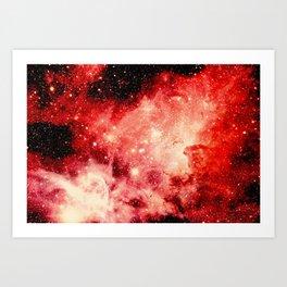 Red Carina Nebula Art Print