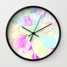 Colorful Crystals Wall Clock